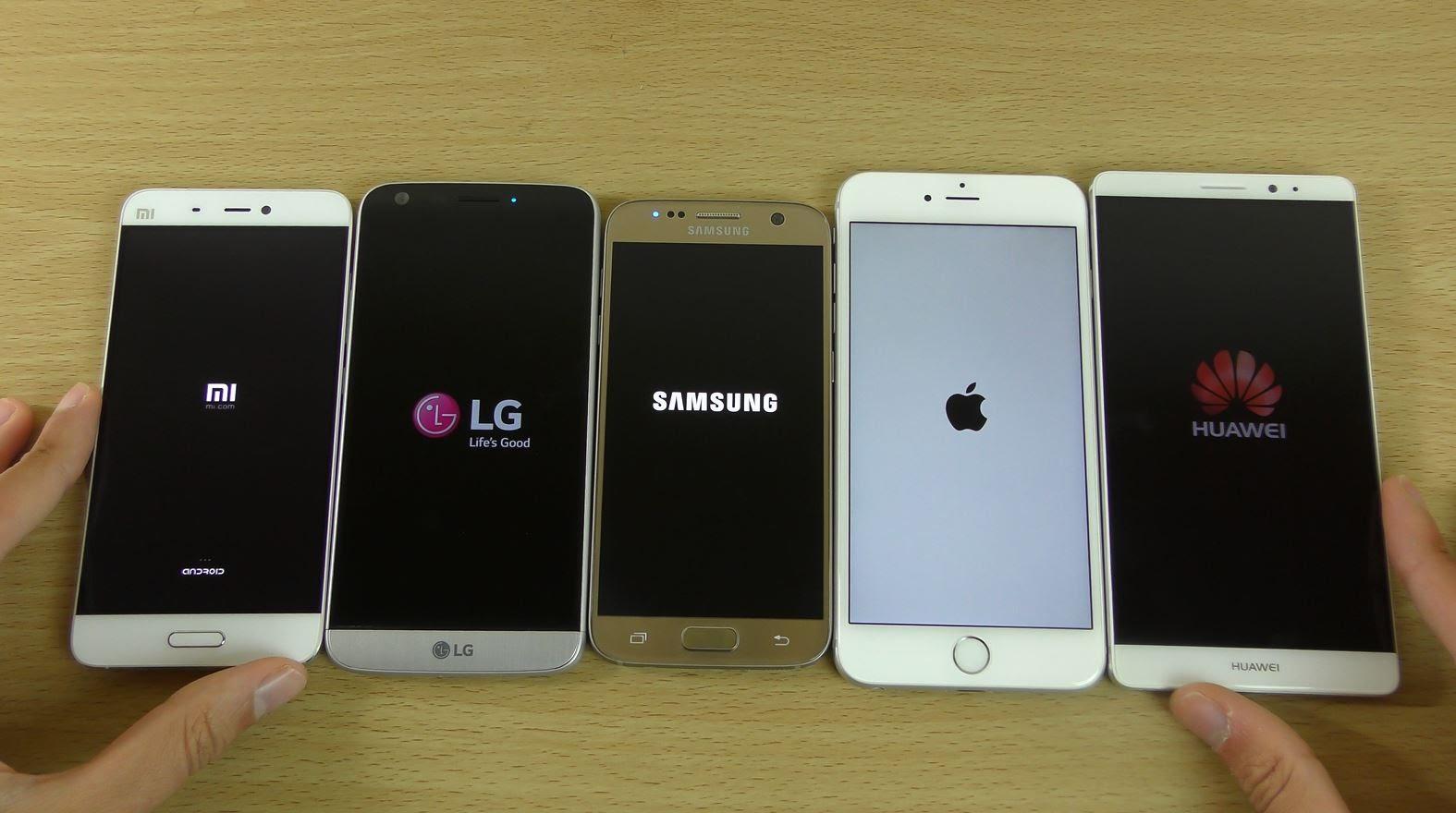 Comparison: iphone 7 vs samsung s7 vs lg g5 vs sony xperia x vs mi 5 plus
